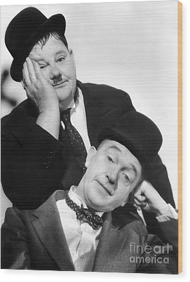 Laurel And Hardy, 1939 Wood Print by Granger