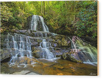 Laurel Falls Wood Print
