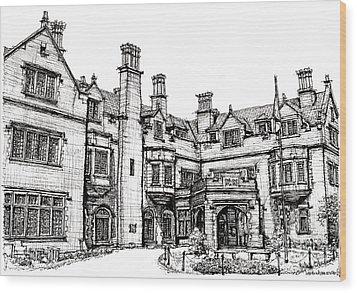 Laurel Hall In Indianapolis Wood Print by Adendorff Design