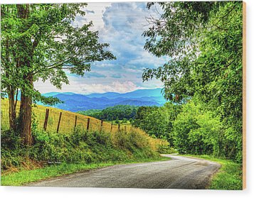Laurel Hill View Wood Print by Dale R Carlson