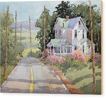 Laurel Mountain Farm Wood Print by Joyce Hicks