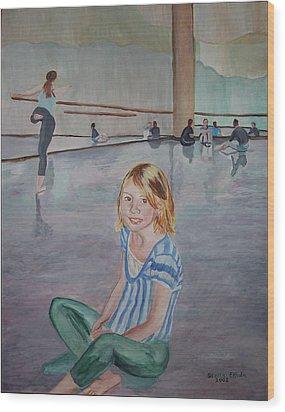 Lauren's Dance Class Wood Print by Stella Sherman