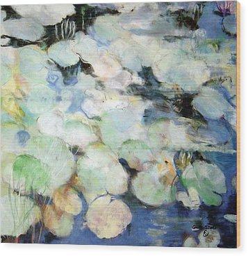 Lauren's Lillies Wood Print by Anita Stoll