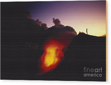 Lava At Dawn Wood Print by Ron Dahlquist - Printscapes