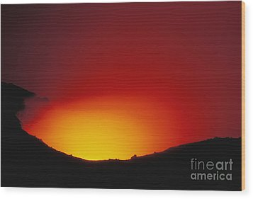 Lava Flows At Night Wood Print by William Waterfall - Printscapes