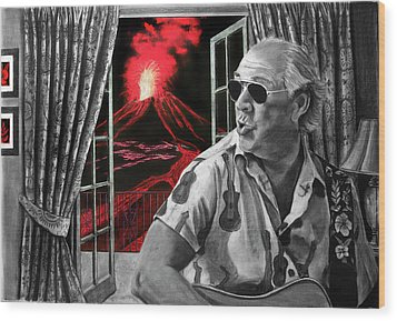 Lava Me Now Or Lava Me Not Wood Print by William Underwood