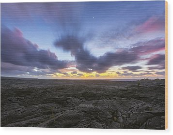 Wood Print featuring the photograph Lava Twilight by Ryan Manuel