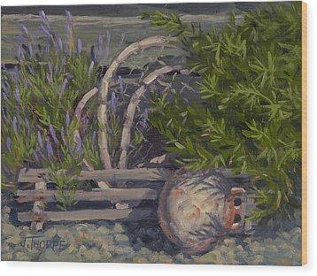 Lavender And Lobster Wood Print by Jane Thorpe