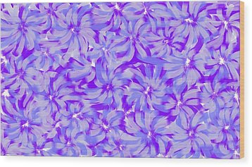 Lavender Blue 1 Wood Print by Linda Velasquez