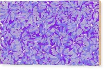 Lavender Blue 1 Wood Print