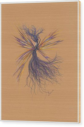 Wood Print featuring the drawing Lavender Breeze... by Dawn Fairies