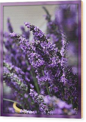 Lavender Wood Print by Cathie Tyler