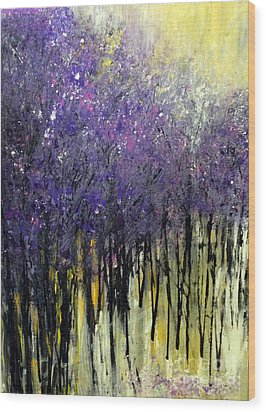 Lavender Dreams Wood Print by Priti Lathia