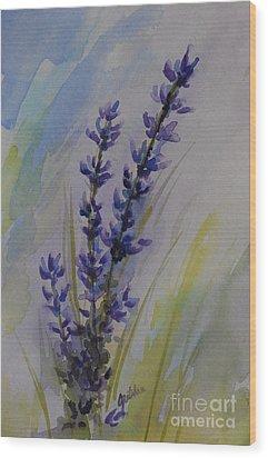 Lavender Wood Print by Gretchen Bjornson