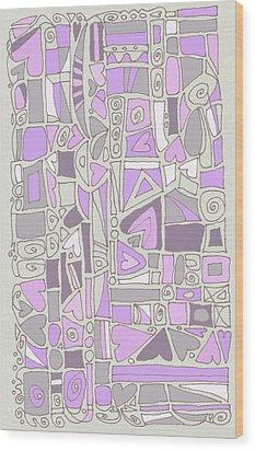 Lavender Hearts Wood Print by Linda Kay Thomas