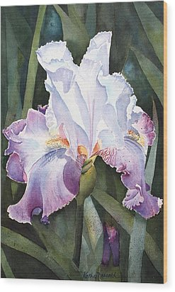 Lavender Light Wood Print by Kathy Nesseth