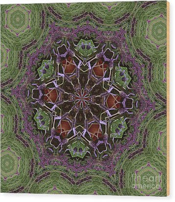 Lavender Mandala 2 Wood Print