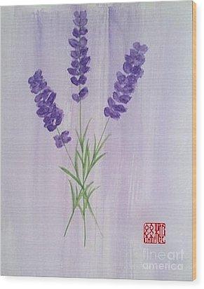 Lavender Wood Print