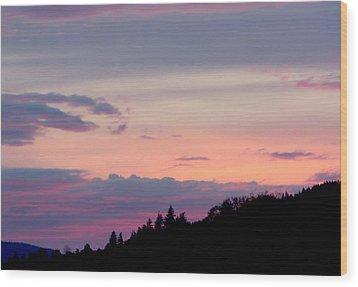 Lavender Skies Wood Print by Nick Gustafson