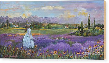 Wood Print featuring the painting Lavender Splendor  by Jennifer Beaudet
