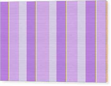 Wood Print featuring the mixed media Lavender Stripe Pattern by Christina Rollo