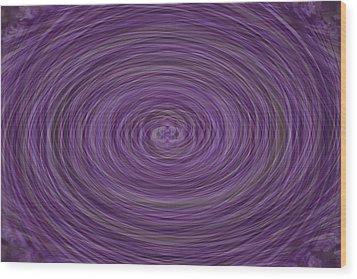 Lavender Vortex Wood Print by Teresa Mucha