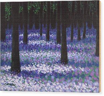 Lavender Woodland Wood Print by John  Nolan