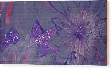 Lavish Lavender Wood Print by Anne-Elizabeth Whiteway