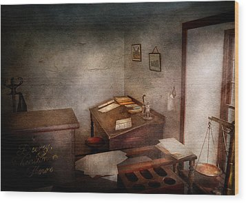 Lawyer - The Law Office Wood Print by Mike Savad