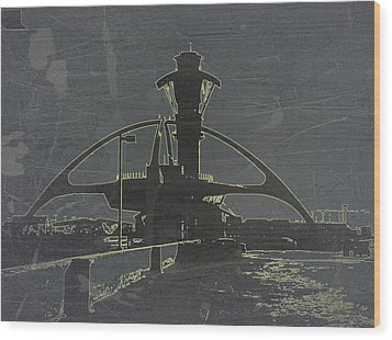 Lax Grey Wood Print by Naxart Studio