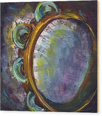 Lay Down Sally Wood Print by Raette Meredith