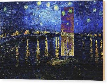 Layered 15 Van Gogh Wood Print