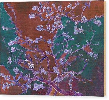 Layered 2 Van Gogh Wood Print by David Bridburg