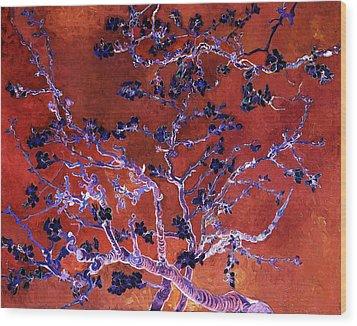 Layered 9 Van Gogh Wood Print by David Bridburg