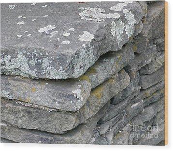 Layered Rock Wall Wood Print