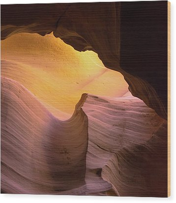 Wood Print featuring the photograph Layered Shadows - Antelope Canyon by Gregory Ballos