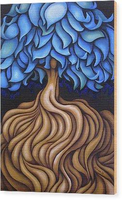 Layers Lxxv Wood Print