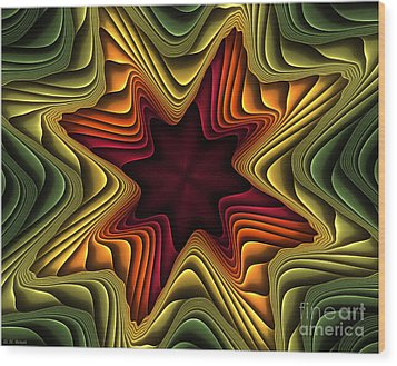 Layers Of Color Wood Print by Deborah Benoit