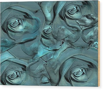 Layers Wood Print by Sabine Stetson
