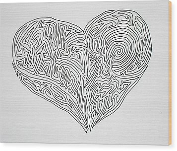 Laying Your Heart On A Line  Wood Print