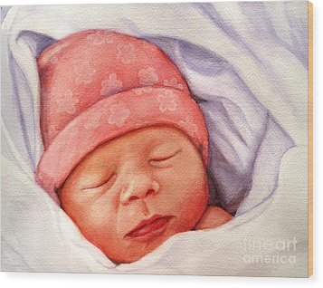 Layla Wood Print by Marilyn Jacobson