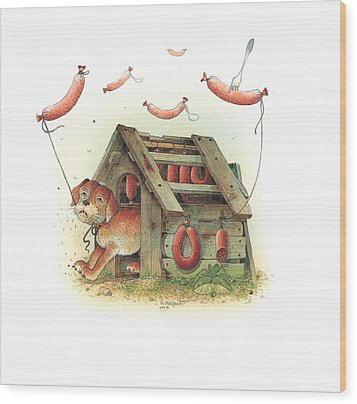 Lazinessland01 Wood Print by Kestutis Kasparavicius