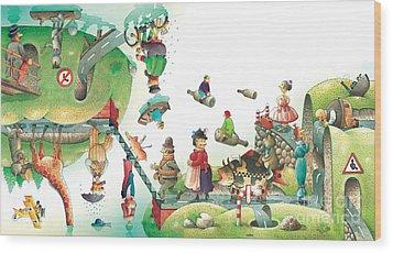 Lazinessland06 Wood Print by Kestutis Kasparavicius
