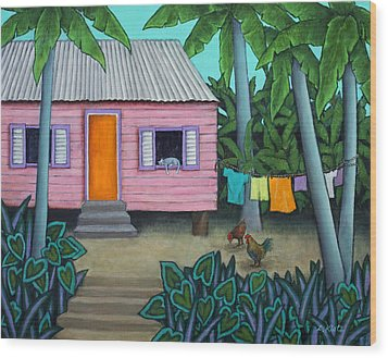 Lazy Day In The Caribbean Wood Print by Lorraine Klotz