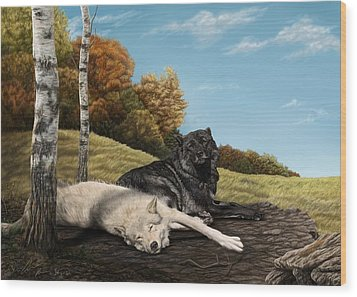 Lazy Day Wood Print by Laura Klassen