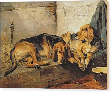 Lazy Moments Wood Print by John Sargent Noble