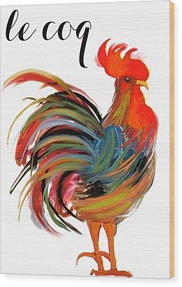 Le Coq Art Nouveau Rooster Wood Print