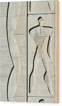 Le Corbusier Design Wood Print by Chris Hellier