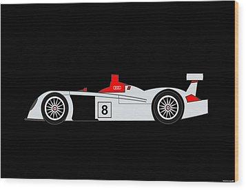 Le Mans Audi R8 Wood Print by Asbjorn Lonvig