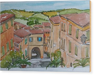 Le Marche, Italy Wood Print by Janet Butler